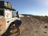 Start of the Gibb River Road - letting the air pressure down!